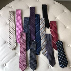 🖤 Bundle of 12 Designer Men's Ties
